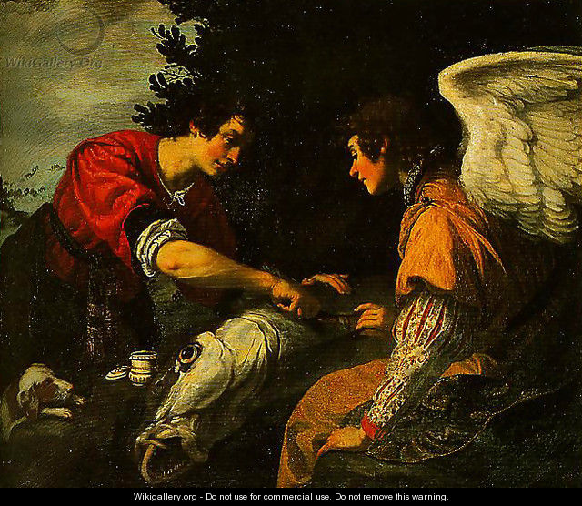 Tobias and the Angel - Jacopo Vignali