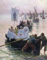 The Arrival of the Procession of St Anne from Fouesnant to Concarneau 1887 - Alfred Guillou