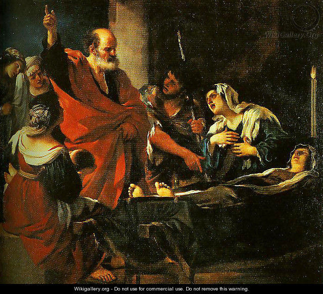 St Peter Revives Taitha - Guercino