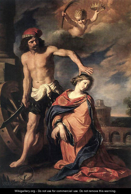 Martyrdom of St Catherine 1653 - Guercino