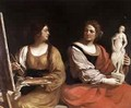 Allegory Of Painting And Sculpture 1637 - Guercino