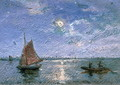 Fishing Boats by Moonlight - Alfred Wahlberg