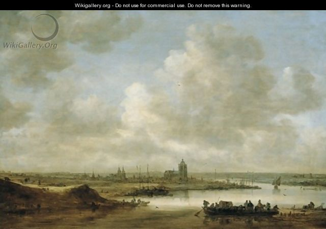 The Rhine at Arnhem 1645 - Jan van Goyen