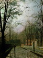 After the Shower - John Atkinson Grimshaw