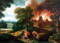 The Burning of Troy - Nicolas Poussin