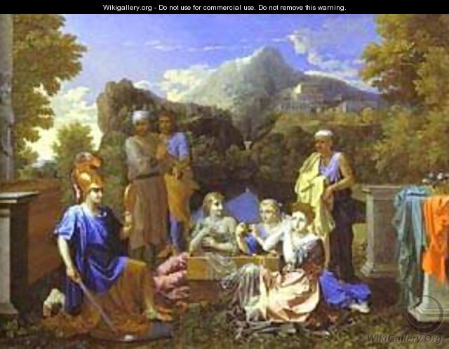 Achilles And Daughters Of Lycomede 1656 - Nicolas Poussin