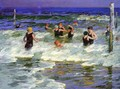 Bathers in the Surf -2 - Edward Henry Potthast
