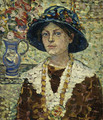 Portrait of a Girl with Flowers - Maurice Brazil Prendergast