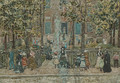 Court Yard West End Library Boston - Maurice Brazil Prendergast