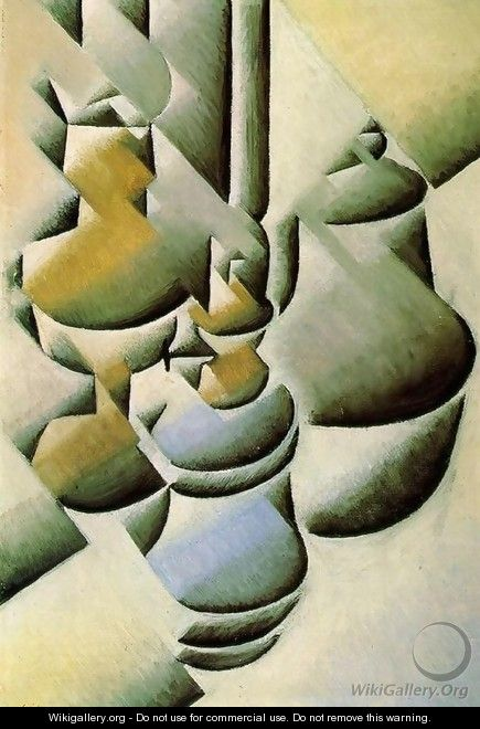 Still Life with Oil Lamps 1911-1912 - Juan Gris