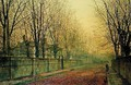 In the Golden Glow of Autumn 1884 - John Atkinson Grimshaw