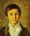 Portrait Of Km Milyukov As A Child End Of 1840s - Grigori Vasilievich Soroka