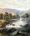 An Angler in a River Valley - Alfred Glendening