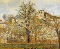 Kitchen Garden witih Trees in Flower Spring Pontoise 1877 - Camille Pissarro