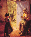 The Sewing Lesson - Evert Pieters