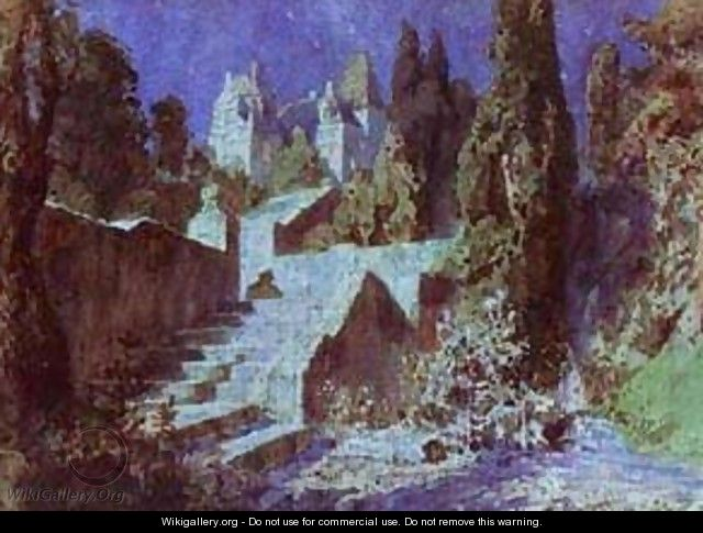 Castle Sketch For The Scenery 1883 - Vasily Polenov