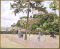 The Public Garden at Pontoise 1874 - Camille Pissarro
