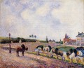 The Pontoise Bridge 1891 - Camille Pissarro
