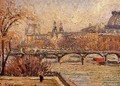 The Louvre Afternoon Rainy Weather 1900 - Camille Pissarro