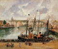 The Inner Harbor Dpeppe High Tide Morning Grey Weather 1902 - Camille Pissarro