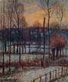 The Effect of Snow Sunset Eragny 1895 - Camille Pissarro