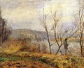 The Banks of the Oise Pontoise (aka Man Fishing) 1878 - Camille Pissarro