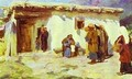 They Brought The Children Study From The Series The Life Of Christ - Vasily Polenov
