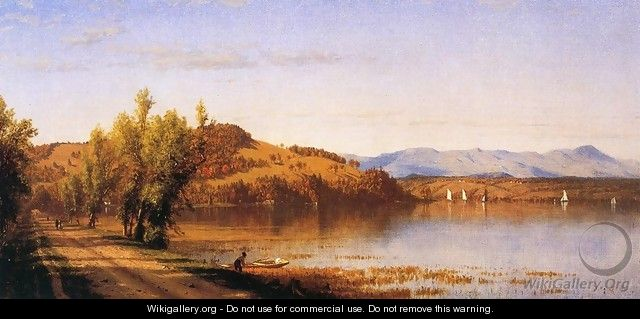 South Bay on the Hudson 1864 - Sanford Robinson Gifford