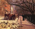 Beacon Street Boston 1884 - Sanford Robinson Gifford