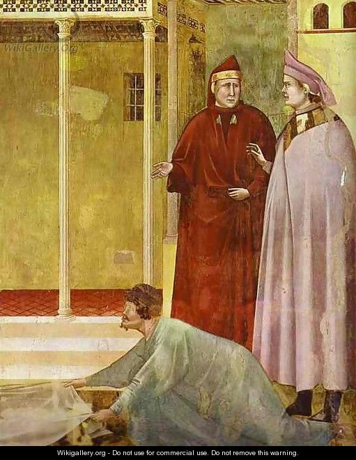 Homage Of A Simple Man Detail 2 1295-1300 - Giotto Di Bondone