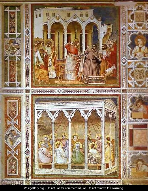 Christ Purging The Temple And Pentecost 1304-1306 - Giotto Di Bondone