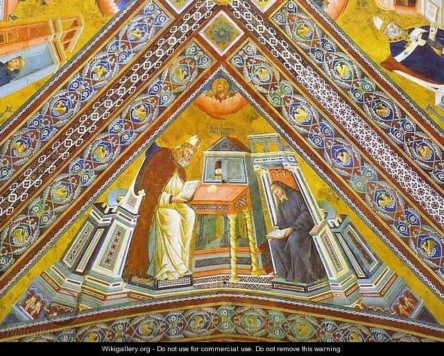 Vault Of The Doctors Of The Church St Jerome 1290-1295 - Giotto Di Bondone