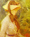 Young Woman With A Straw Hat 1884 - Berthe Morisot