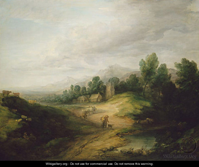 Wooded Upland Landscape probably 1783 - Thomas Gainsborough