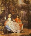 Self Portrait With His Wife Margaret 1746-47 - Thomas Gainsborough