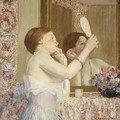 Woman with a Mirror (Femme qui se mire) 1911 - Frederick Carl Frieseke