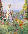 In the Garden1 (also known as Celia Thaxter in Her Garden) - Frederick Childe Hassam
