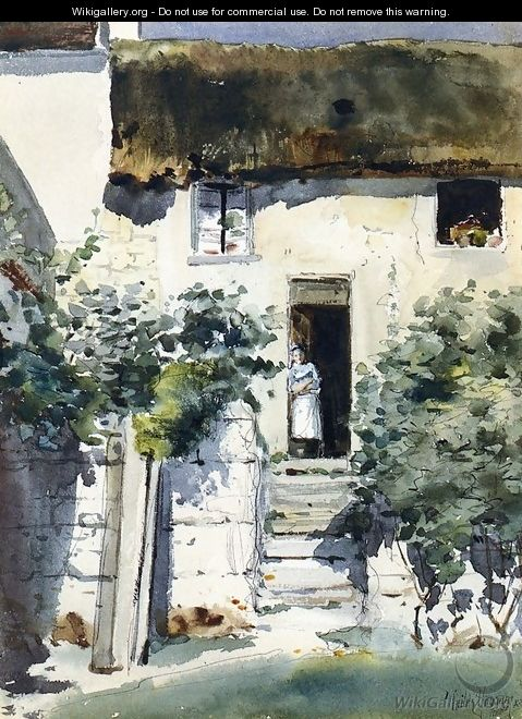 Girl in a Doorway - Frederick Childe Hassam