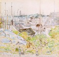 The Harbor of a Thousand Masts, Gloucester - Frederick Childe Hassam