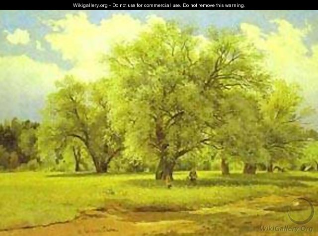 Willows Lit Up By The Sun 1860s-1870s - Ivan Shishkin