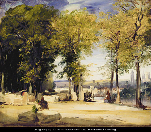 View near Rouen ca 1825 - Richard Parkes Bonington