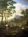 An Arcadian Landscape with Pan and Syrinx - Jacob De Heusch