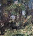 Forest Scene with Colt 1940 - Karl Briullov