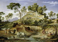 Landscape with Shepherds and Cows and at the Spring 1832 34 - Joseph Anton Koch