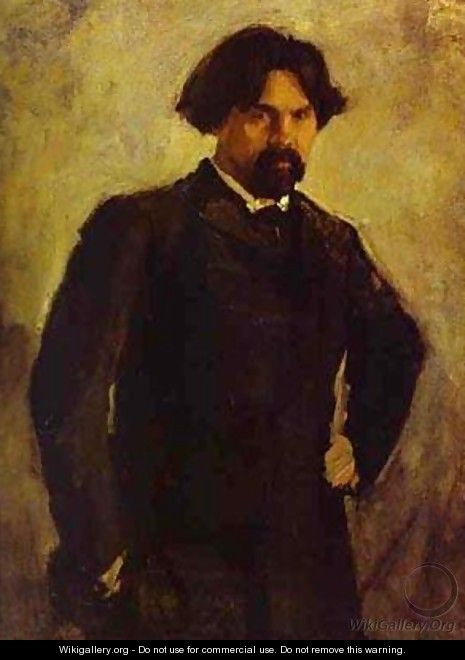 Portrait Of The Artist Vasily Surikov Late 1890s - Valentin Aleksandrovich Serov