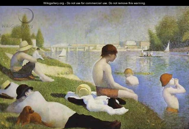 Bathers At Asnieres 1883-84 - Georges Seurat