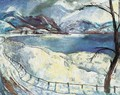 Snowy Danubian Landscape (The Danube during Winter) 1928 - Istvan Desi-Huber