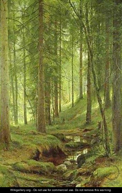 Stream By A Forest Slope 1880 - Ivan Shishkin