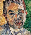 Portrait of a Boy before Green Background - Gyula Batthyany