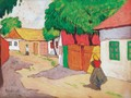 Village Street - Aurel Bernath